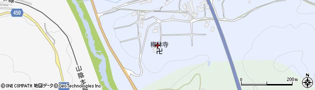 栴林寺周辺の地図