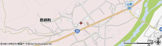 京都府綾部市鷹栖町周辺の地図