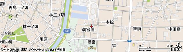 愛知県一宮市萩原町花井方(朝宮浦)周辺の地図