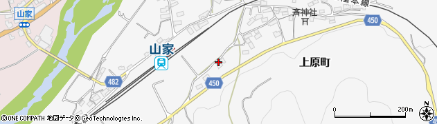 京都府綾部市上原町(上林)周辺の地図