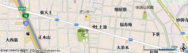 愛知県一宮市浅野(土池)周辺の地図