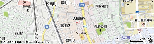 愛知県一宮市一宮(下町西側)周辺の地図