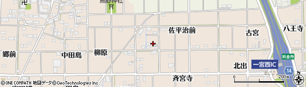 愛知県一宮市大和町苅安賀(佐平治前)周辺の地図