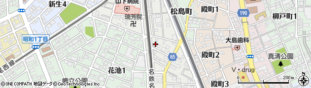 愛知県一宮市中町周辺の地図