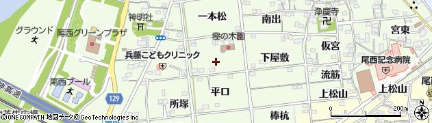 愛知県一宮市冨田(若宮前)周辺の地図