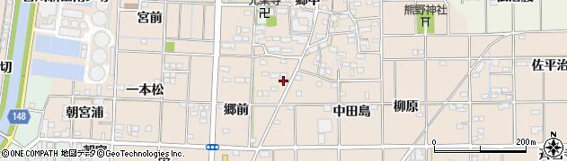 愛知県一宮市萩原町花井方(一本松東切)周辺の地図