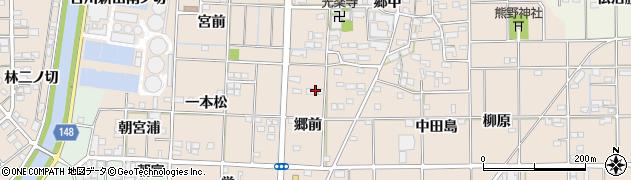 愛知県一宮市萩原町花井方(郷前)周辺の地図