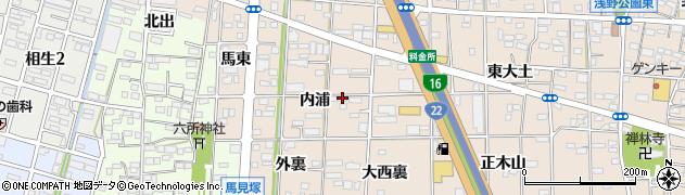 愛知県一宮市浅野(内浦)周辺の地図