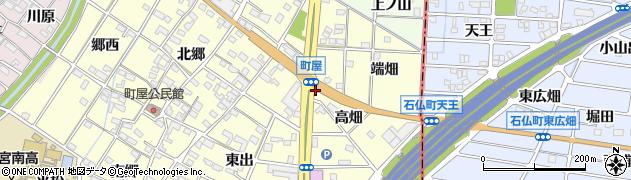 愛知県一宮市千秋町町屋(高畑)周辺の地図