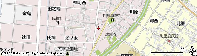 愛知県一宮市千秋町天摩(郷前)周辺の地図