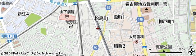 愛知県一宮市一宮(下片端)周辺の地図