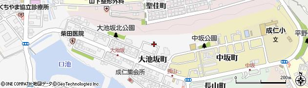 京都府福知山市大池坂町周辺の地図