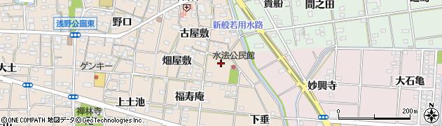 愛知県一宮市浅野(中道)周辺の地図