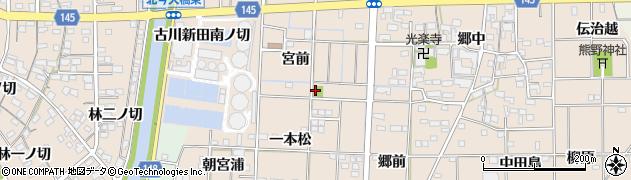 愛知県一宮市萩原町花井方(一本松西切)周辺の地図