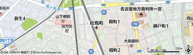 愛知県一宮市松島町周辺の地図
