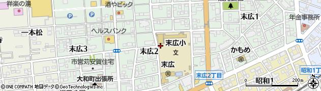 愛知県一宮市末広周辺の地図