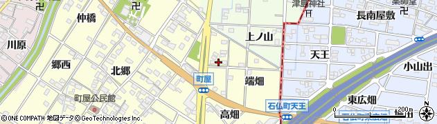 愛知県一宮市千秋町町屋(端畑)周辺の地図