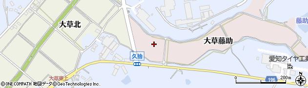 愛知県小牧市大草藤助周辺の地図