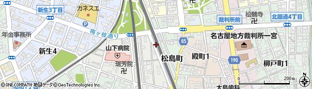愛知県一宮市一宮(山田)周辺の地図