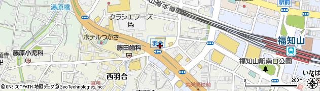 京都府福知山市北羽合周辺の地図