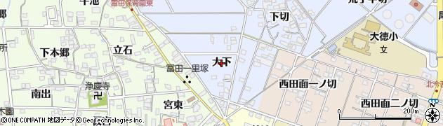 愛知県一宮市西五城(大下)周辺の地図
