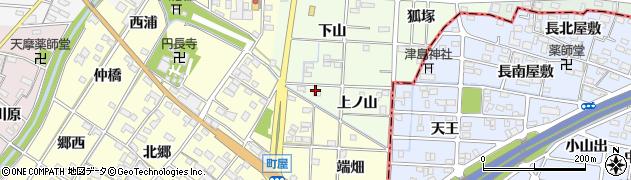 愛知県一宮市千秋町芝原(上ノ山)周辺の地図