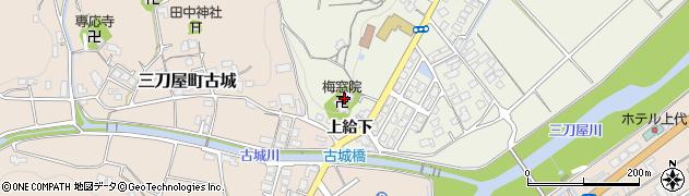 梅窓院周辺の地図