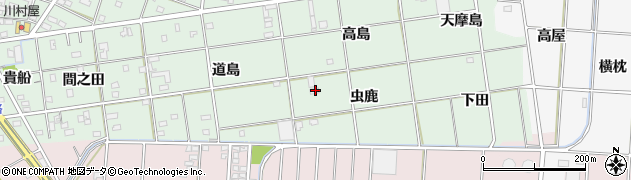 愛知県一宮市南小渕(虫鹿)周辺の地図