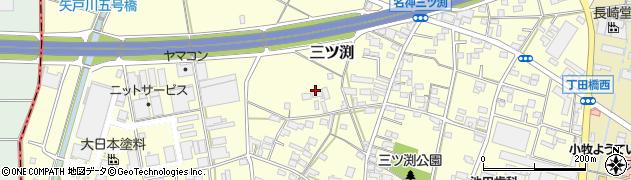 愛知県小牧市三ツ渕周辺の地図