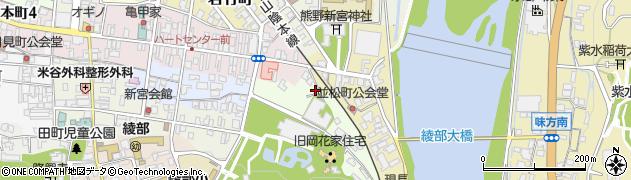 京都府綾部市本宮町(東四ツ辻)周辺の地図
