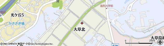 愛知県小牧市大草北周辺の地図