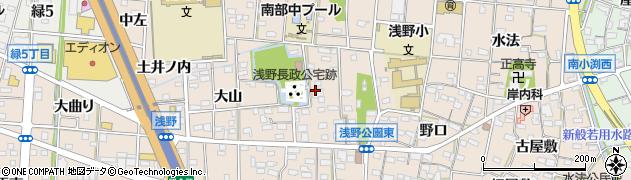 愛知県一宮市浅野(八剱)周辺の地図