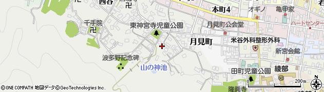 京都府綾部市神宮寺町(古屋敷)周辺の地図