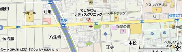 愛知県一宮市大和町毛受(浜田)周辺の地図