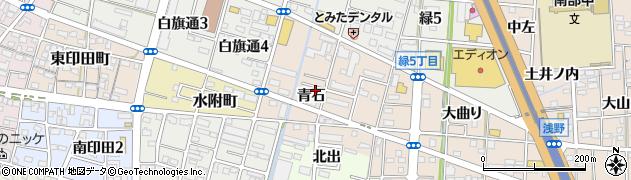 愛知県一宮市浅野(青石)周辺の地図