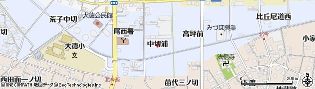 愛知県一宮市西五城(中切浦)周辺の地図