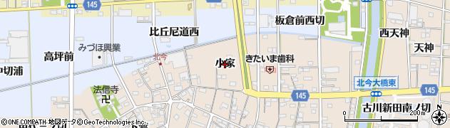 愛知県一宮市北今(小家)周辺の地図