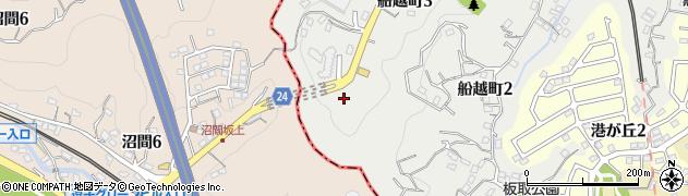 白若稲荷社周辺の地図