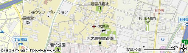 愛知県小牧市西之島周辺の地図