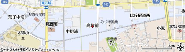 愛知県一宮市西五城(高坪前)周辺の地図