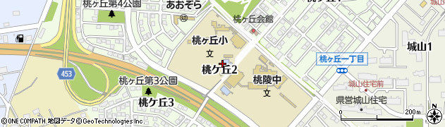 愛知県小牧市桃ケ丘周辺の地図