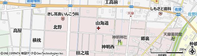 愛知県一宮市千秋町天摩周辺の地図