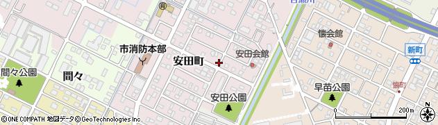 愛知県小牧市安田町周辺の地図