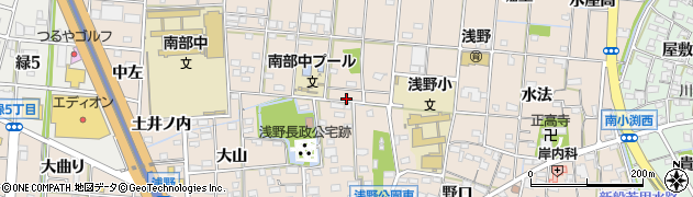 愛知県一宮市浅野周辺の地図