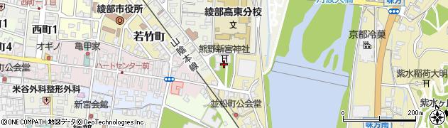 京都府綾部市並松町周辺の地図