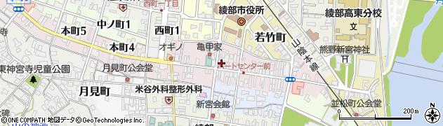 京都府綾部市本町周辺の地図