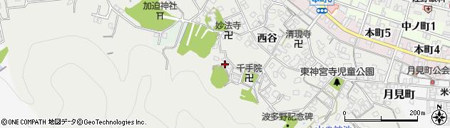 京都府綾部市神宮寺町(大迫)周辺の地図