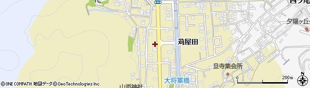 京都府綾部市上延町(下雑面)周辺の地図