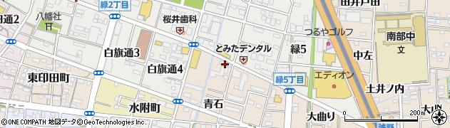 愛知県一宮市浅野(西沼)周辺の地図