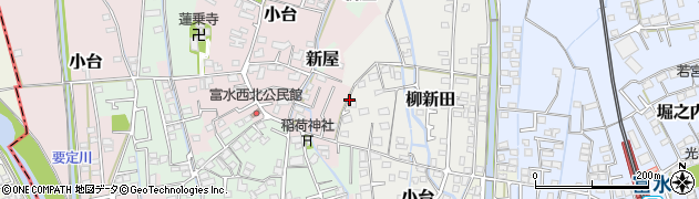 神奈川県小田原市柳新田周辺の地図